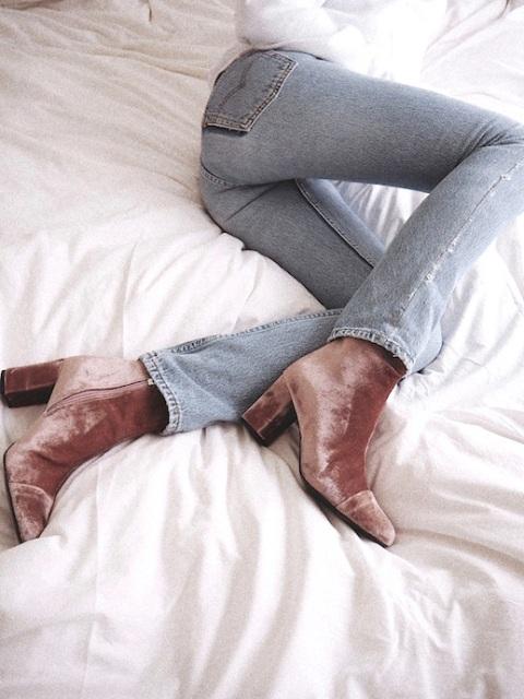 le-fashion-blog-fall-style-white-knit-light-wash-denim-brown-velvet-heeled-boots-via-vasilieva