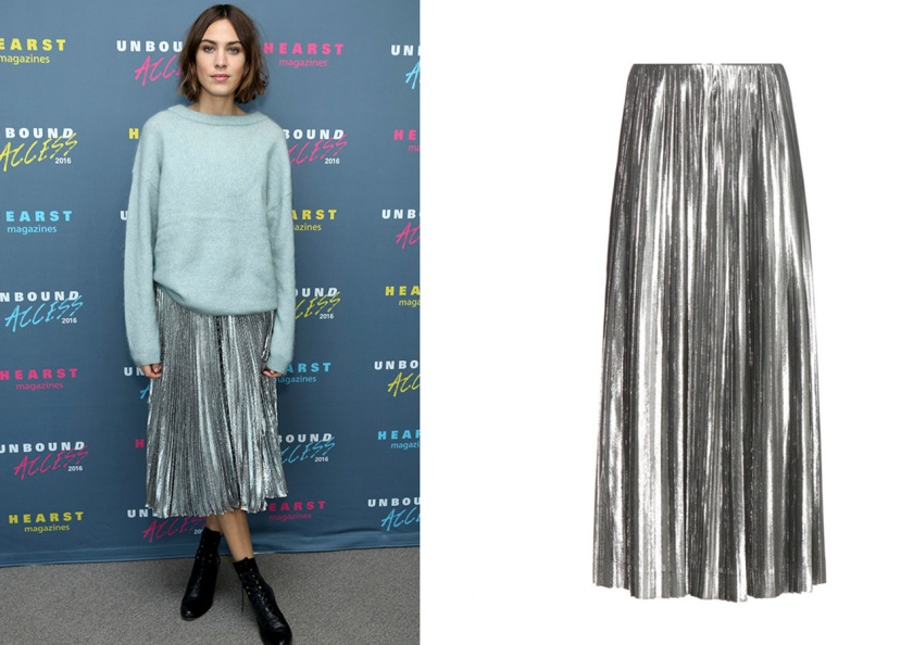 look-alexa-chung-falda-plisada