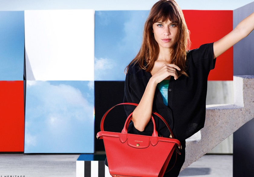 Longchamp unveil their new campaign with British model Alexa Chung.