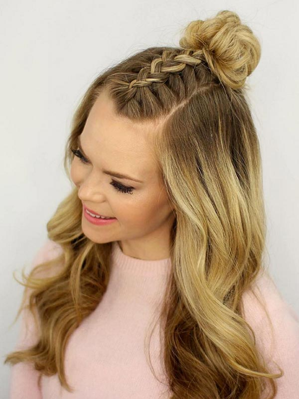 2016_trendy_braided_hairstyles_mohawk_braid_top_knot4